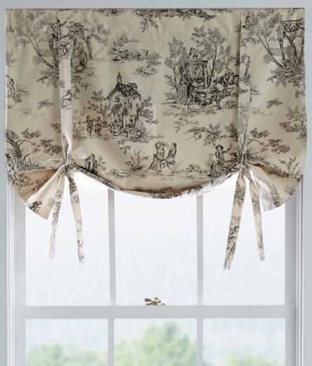 Lenoxdale Toile Tie Up Valance Curtains Toile Curtains