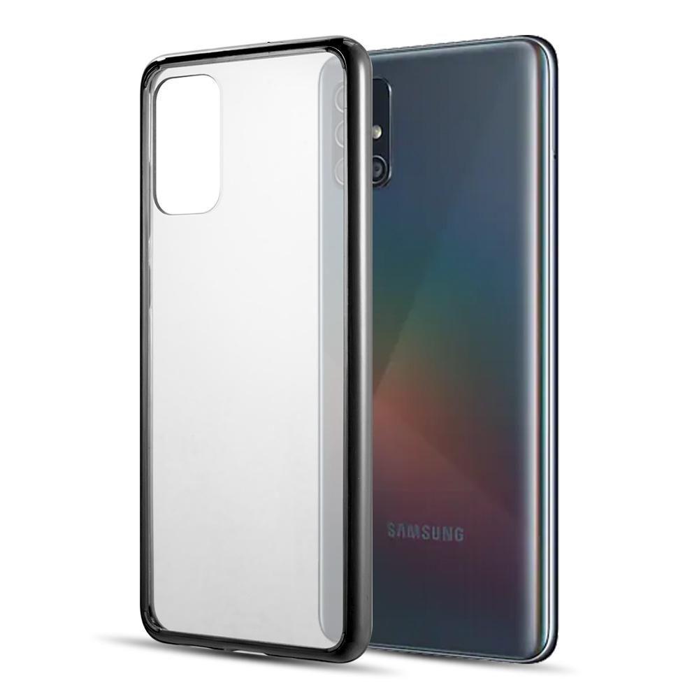 Samsung Galaxy A51 Fusion Candy Tpu Case With Clear Acrylic Back Black Clear In 2020 Samsung Samsung Galaxy Galaxy