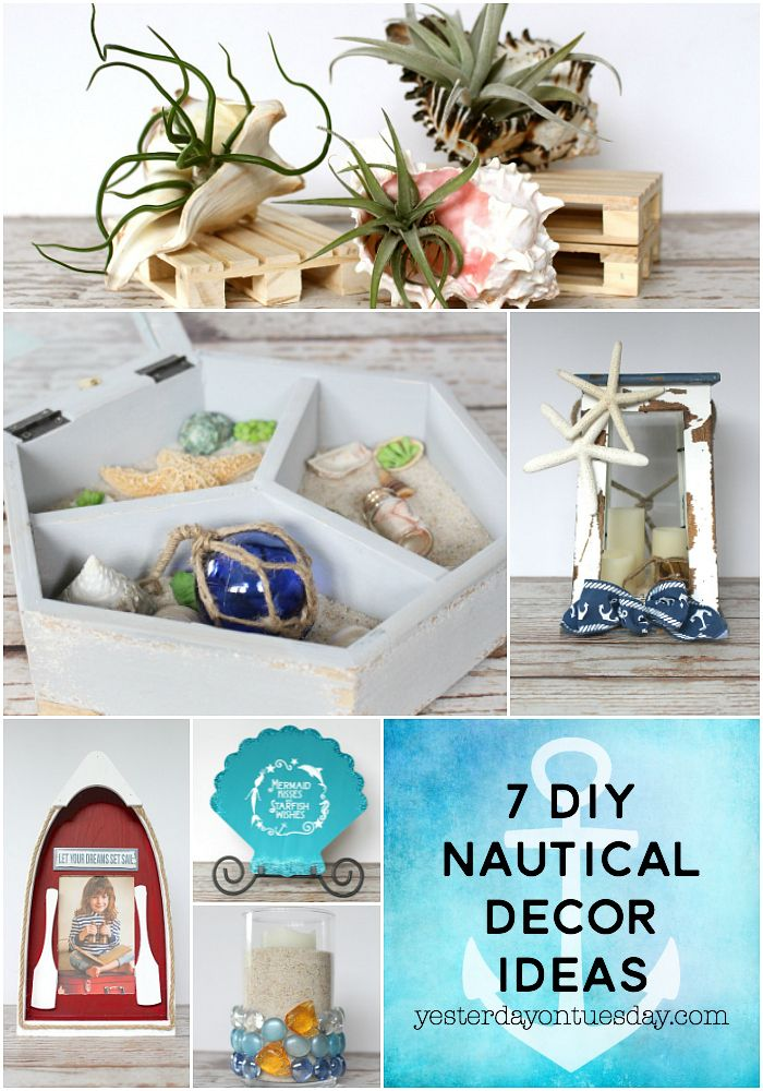 7 DIY Nautical Decor Ideas Including A Trinket Treasure Box, Air .