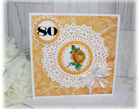 Unique Birthday Cards For Him ~ 80th birthday card hand painted birthday card handmade cards