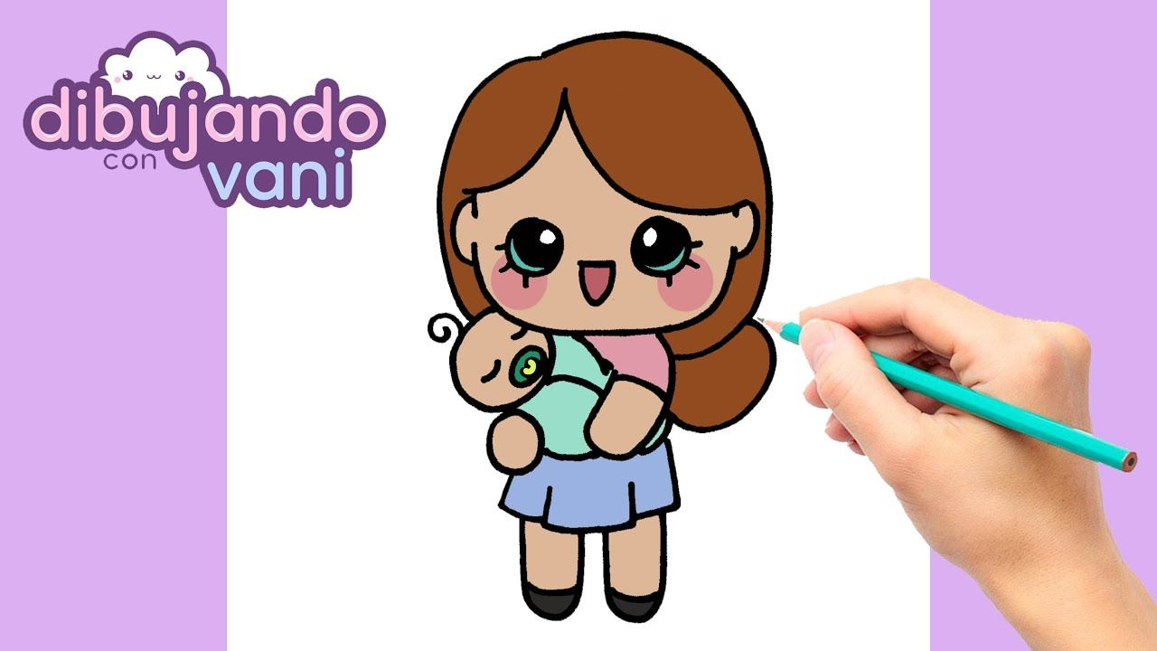 Como Dibujar Una Mama Con Su Bebe Kawaii Dibujos Kawaii Dibujos Kawaii Kawaii Como Dibujar