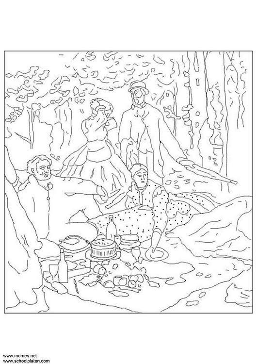 Coloring page Claude Monet - coloring picture Claude Monet. Free ...