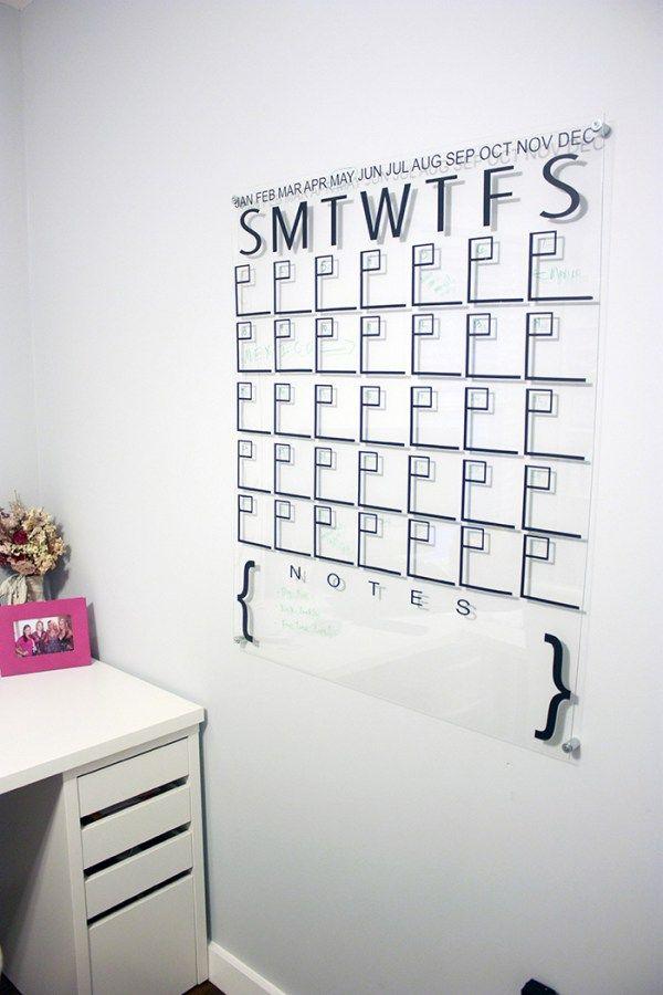 One Room Challenge: Week 5 - DIY Acrylic Calendar   Amber Oliver   In The Loop