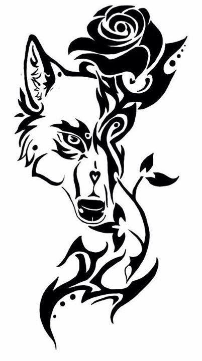 Lineart Wolf Tattoo : Pin von amanda sifford auf cutie marks pinterest