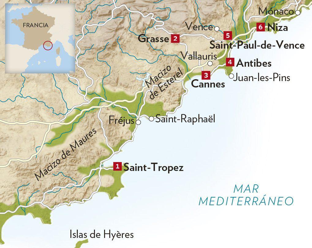 Mapa De La Toscana Y Sus Pueblos.Viaje A La Costa Azul National Geographic En Espanol