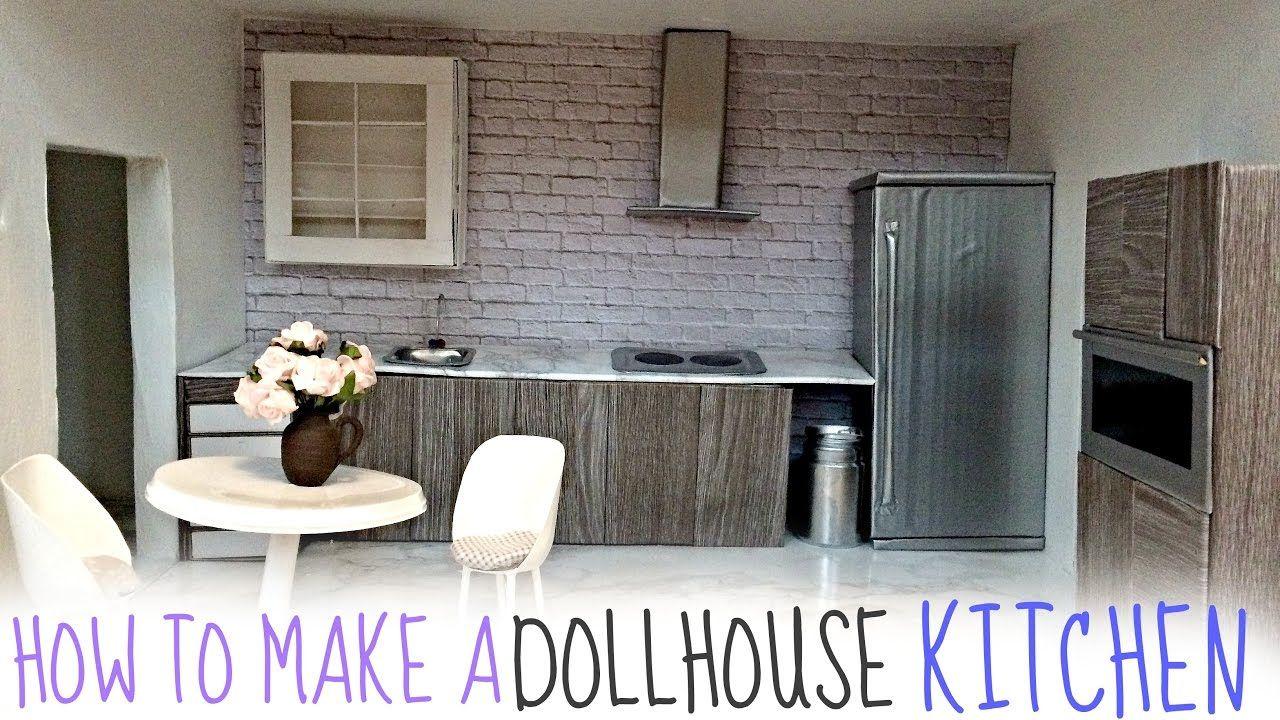 Diy Dollhouse Kitchen Hacemos Una Casita De Mu Ecas  # Muebles De Cocina Hazlo Tu Mismo