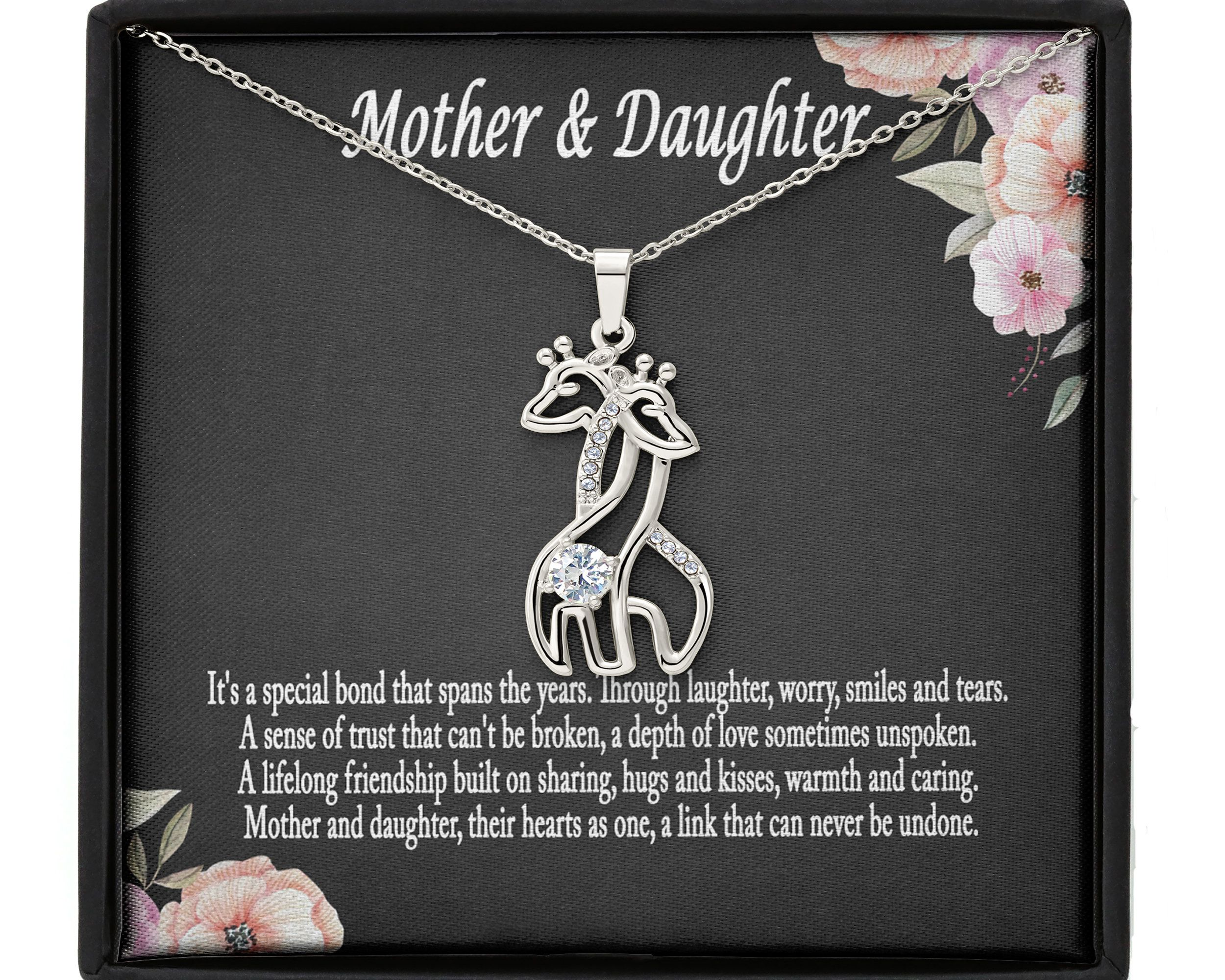 A Bond Between a Mother and Her Child is Forever Mother/'s Necklace. Mother Daughter or Mother Son Two Circles Necklace Gift For Mom