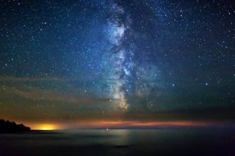 Vía Láctea paisajes exteriores cielos espaciales skyscapes-