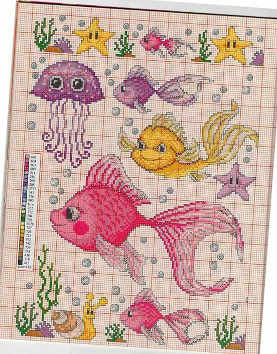 Bits and pieces of this cross stitch pattern I can use for my own ...