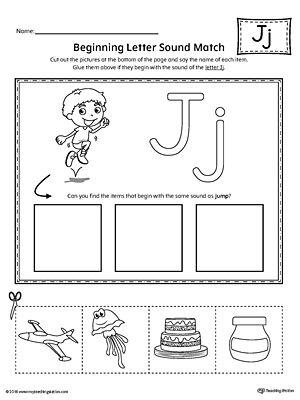 Kindergarten Phonics Printable Worksheets Phonics Worksheets Phonics Letter J J sound worksheets kindergarten
