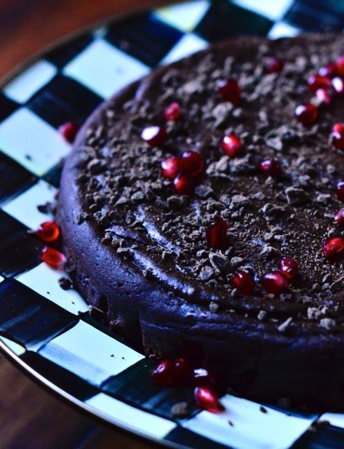 Flourless Date Chocolate Cake from ReluctantEntertainer.com #glutenfree