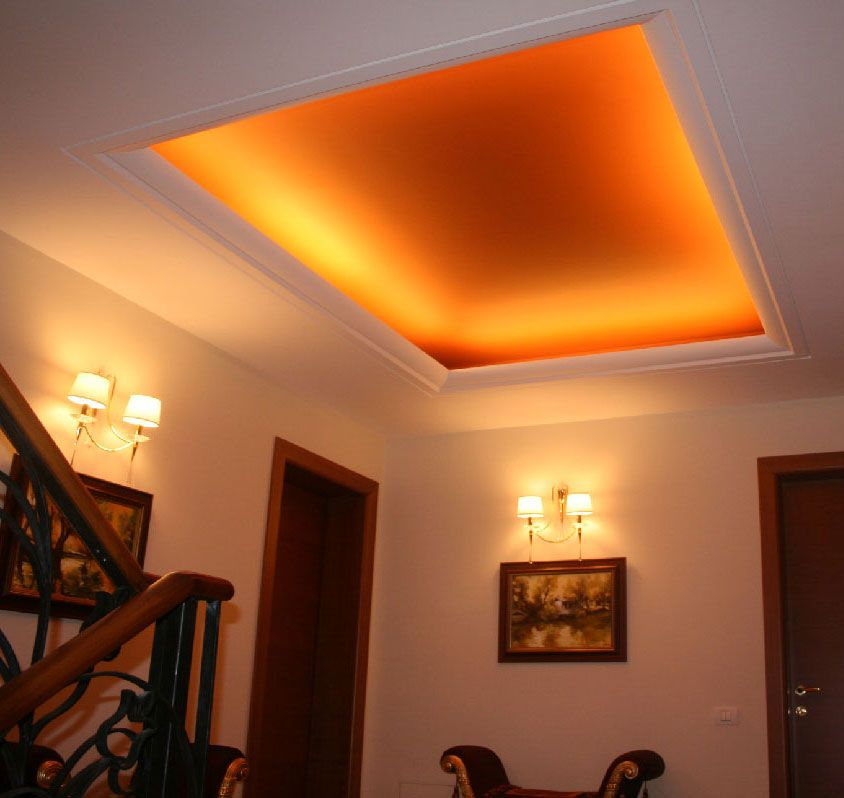 Tray Ceiling Decor With Fort Lauderdale Crown Molding And Indirect