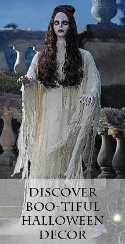 Haunted Halloween Scene Animated Figure Prop Life Size Speaking - life size halloween decorations