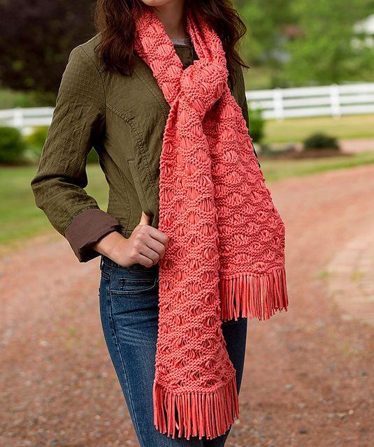 Ravelry: Wavy Drop-Stitch Scarf pattern by Laura Bain ...