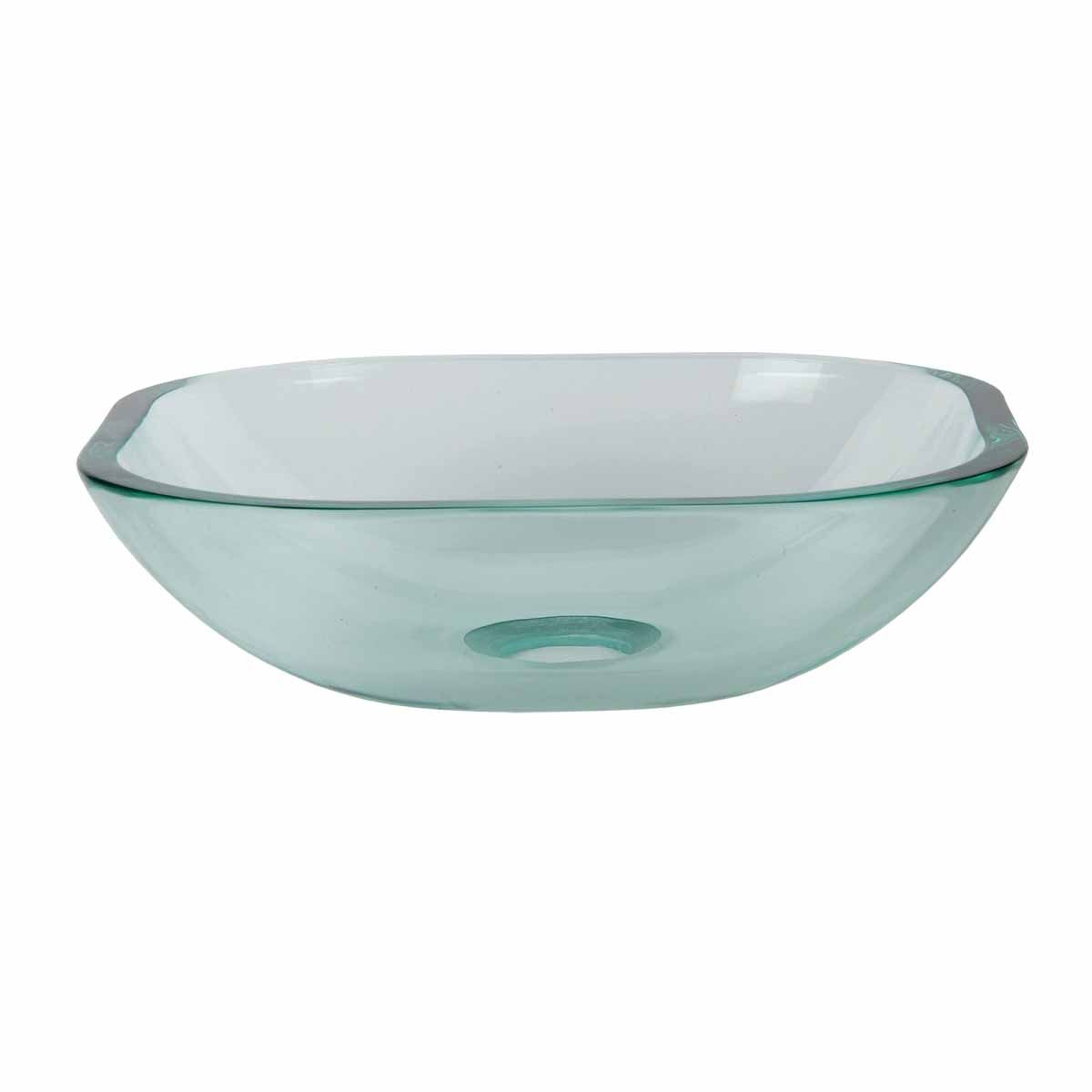 Item 17622 Mini Bathroom Glass Vessel Sink Square Small Bowl