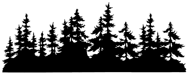 Country Life Tim Holtz U5 2671 Small Tree Line Png 800 318 Tree Silhouette Tattoo Forest Silhouette Silhouette Painting