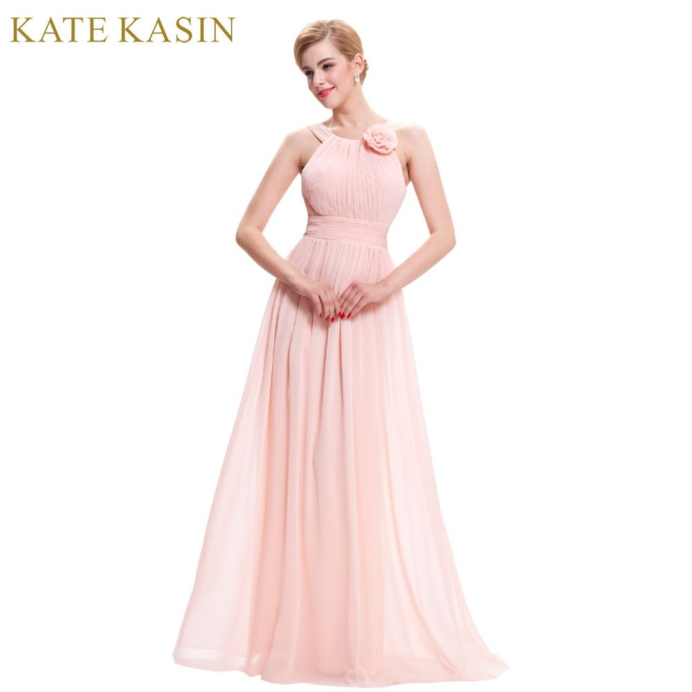 Kate Kasin Pink Evening Dresses 2017 Long Formal Dress for Wedding ...