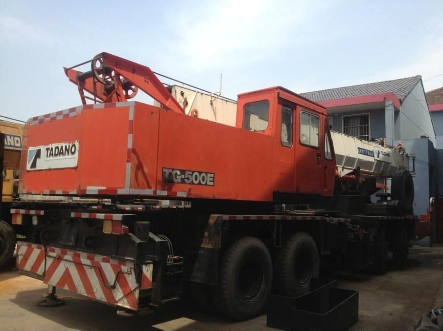 used tadano 50t tg-500e origina truck crane , second hand tadano 50t