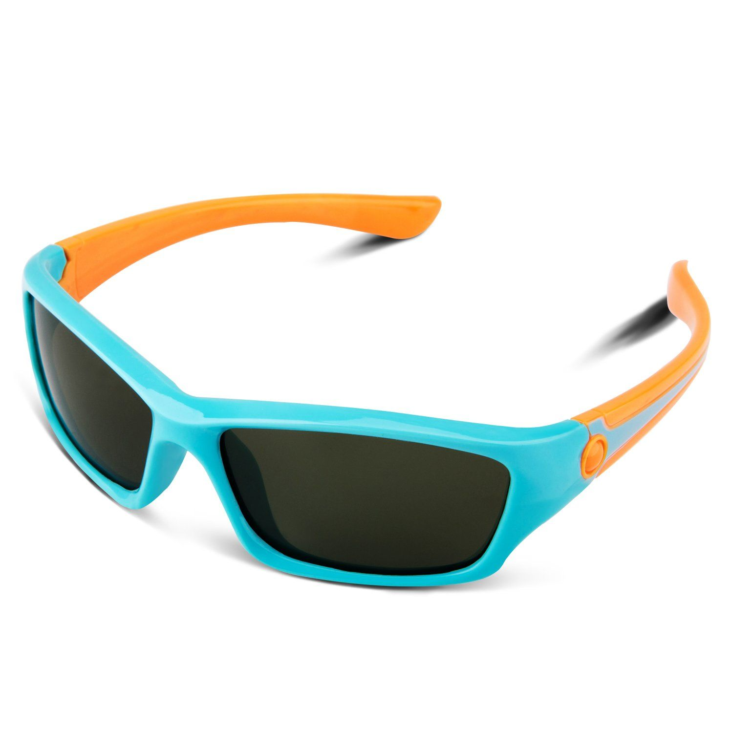 ddeee717e37 RIVBOS RBK025 Rubber Flexible Kids Polarized Sunglasses Glasses Age 3-10  (Blue). SOFT SILICON AND UNBREAKABLE MATERIALS- RIVBOS always walks at the  ...