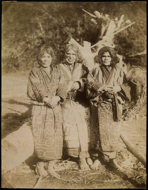 Ainu women on Sachalin (Sakhalin)