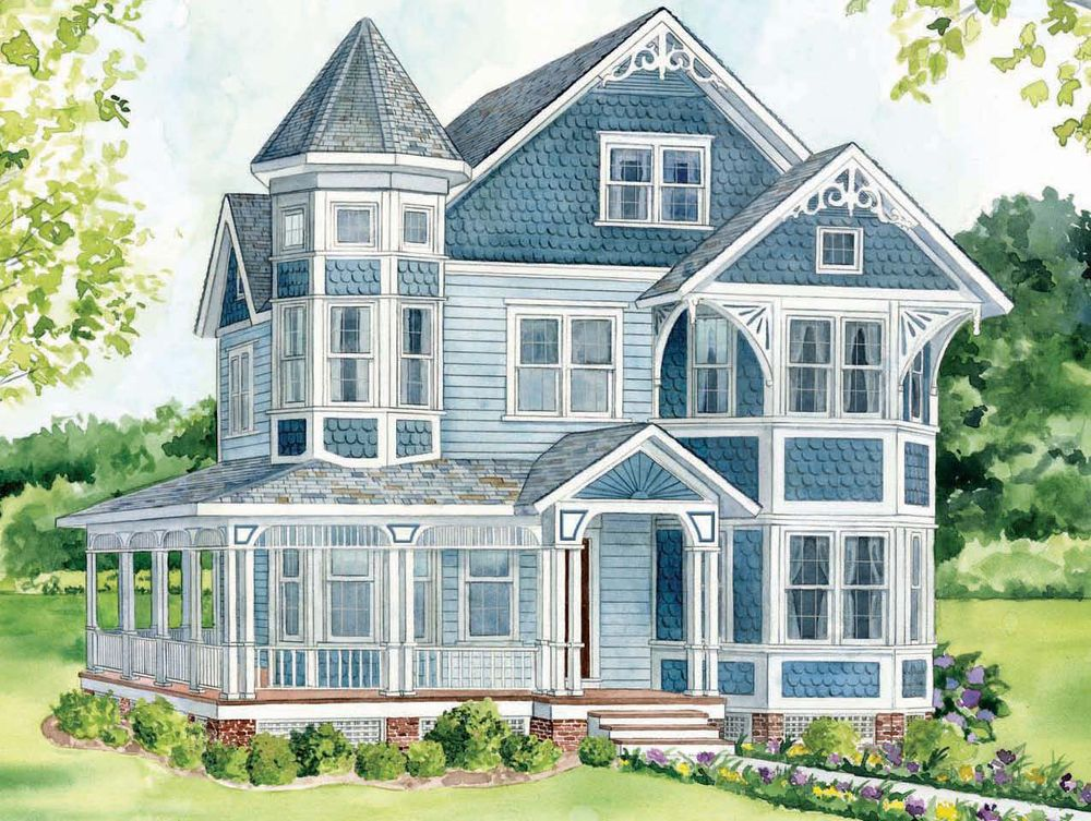 Nice Painting The Exterior Of A Queen Anne Victorian | Queen Anne Home Style Nice Design
