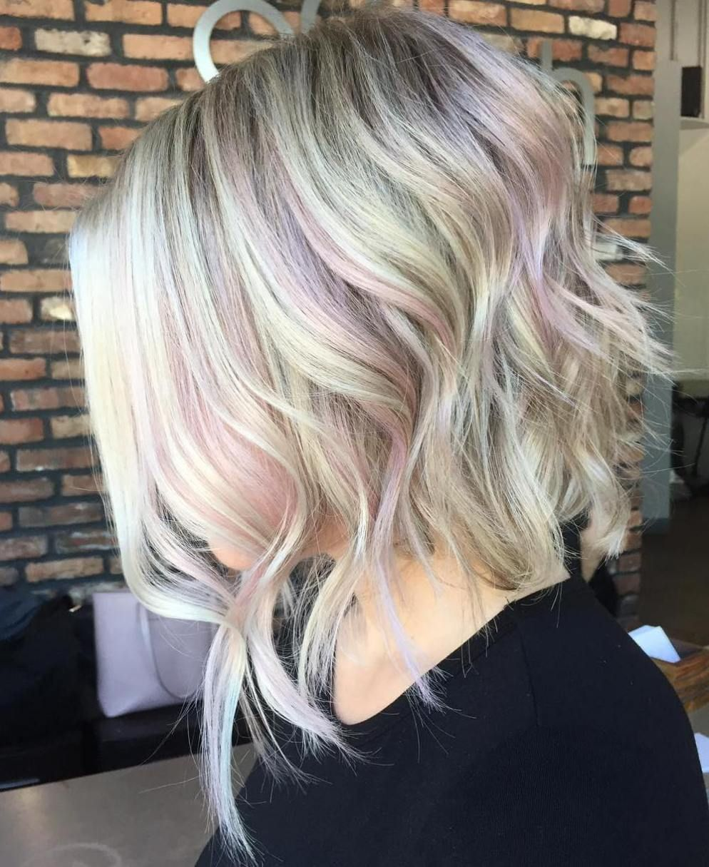 40 Ideas Of Pink Highlights For Major Inspiration Pink Blonde Hair Blonde Hair With Pink Highlights Blonde With Pink