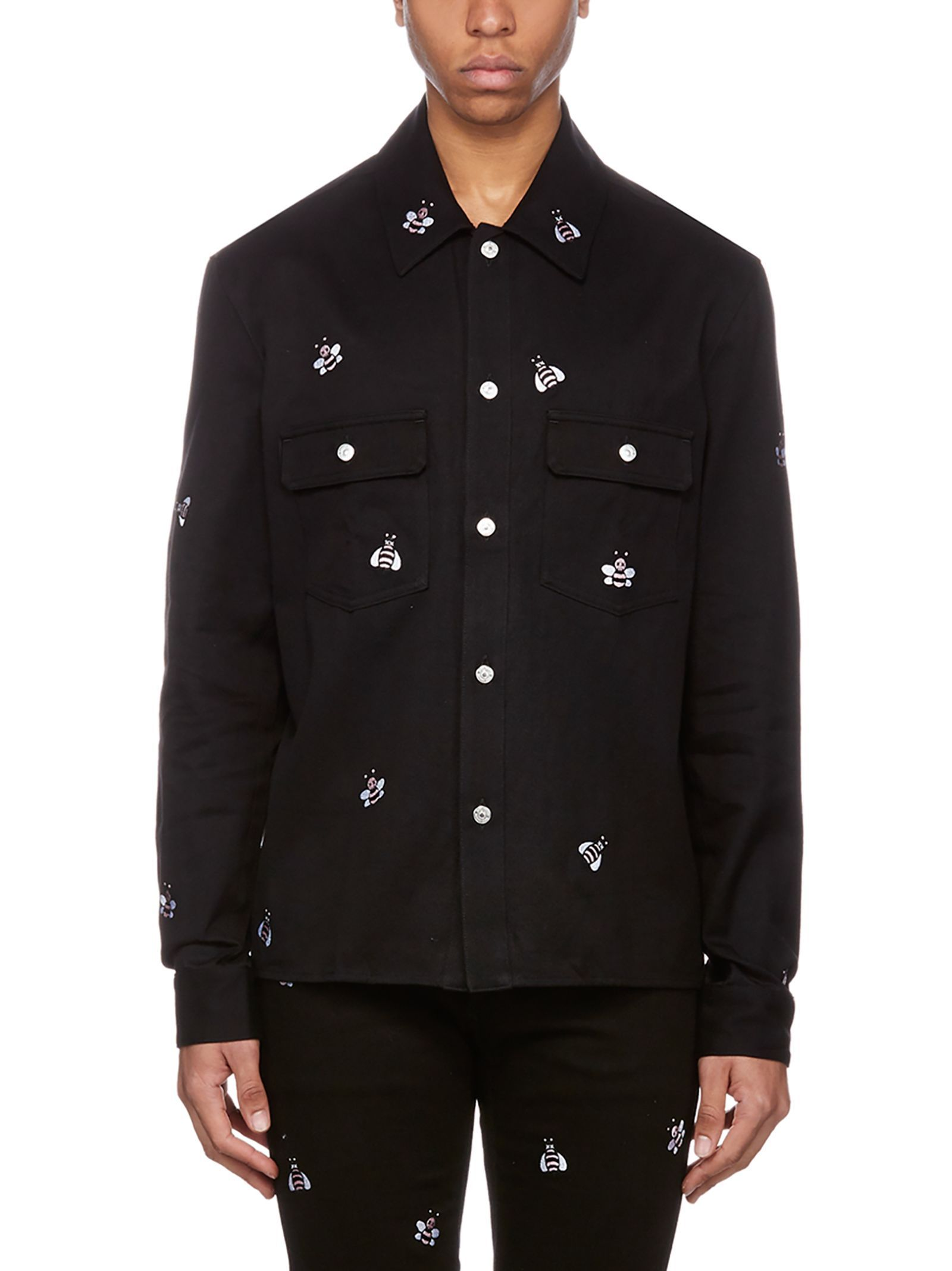 Dior Shirt In Nero Modesens Embroidered Denim Jacket Embroidered Denim Dior Shirt [ 2136 x 1600 Pixel ]