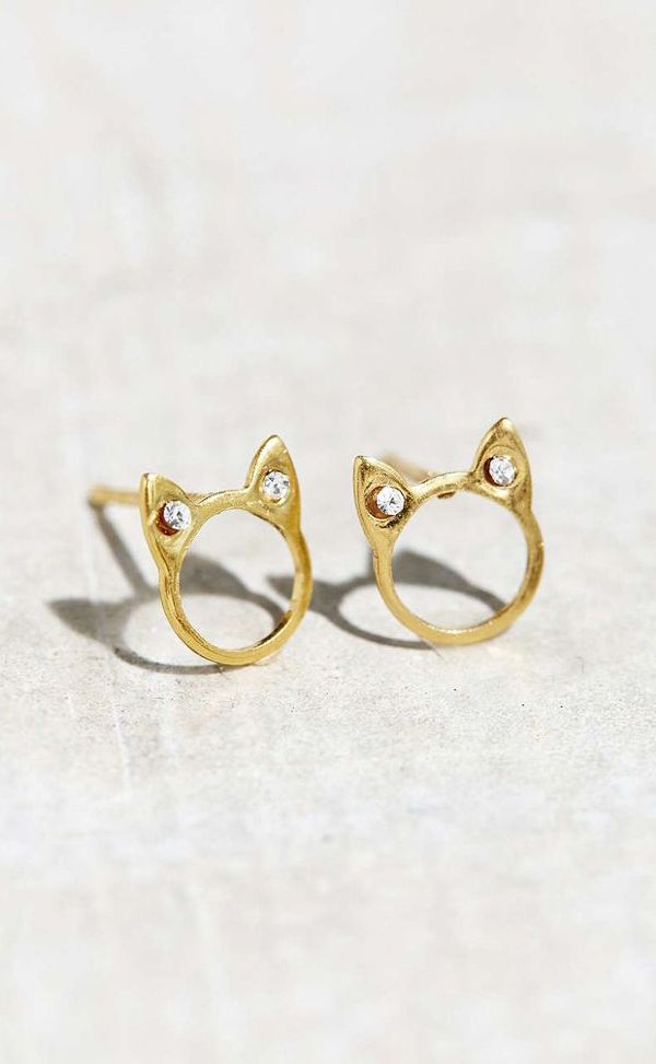 18k Gold Plated Stud Earring