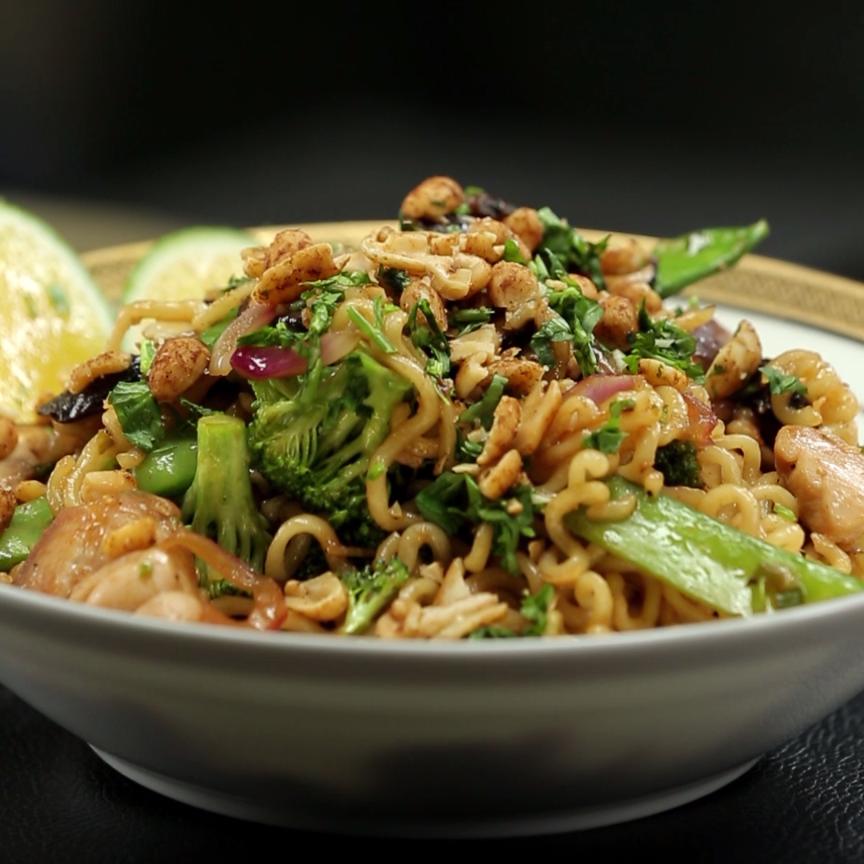 Ramen Chicken Noodle Stir Fry Recipe Cooking Up