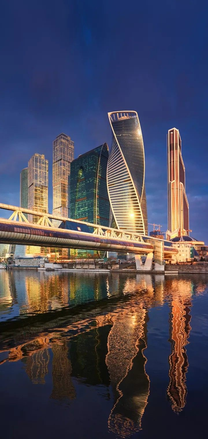 Financial Center Of Moscow 1 5 Moscow International Business Center Moscow City Is Located In The Pres Travel Spot Famous Places Reflection Photography