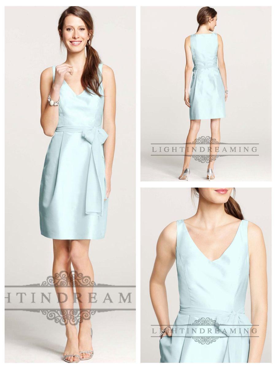 Elegent Straps V-neck Knee Length Bridesmaid Dresses with Waist Belt  #wedding #dresses #dress #lightindream #lightindreaming #wed #clothing   #gown #weddingdresses #dressesonline #dressonline #bride  http://www.ckdress.com/elegent-straps-vneck-knee-length-bridesmaid-  dresses-with-waist-belt-p-55.html