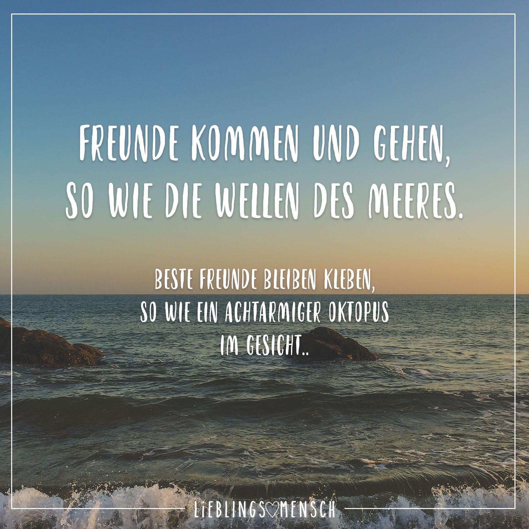 Freunde kommen und gehen, so wie die Wellen des Meeres