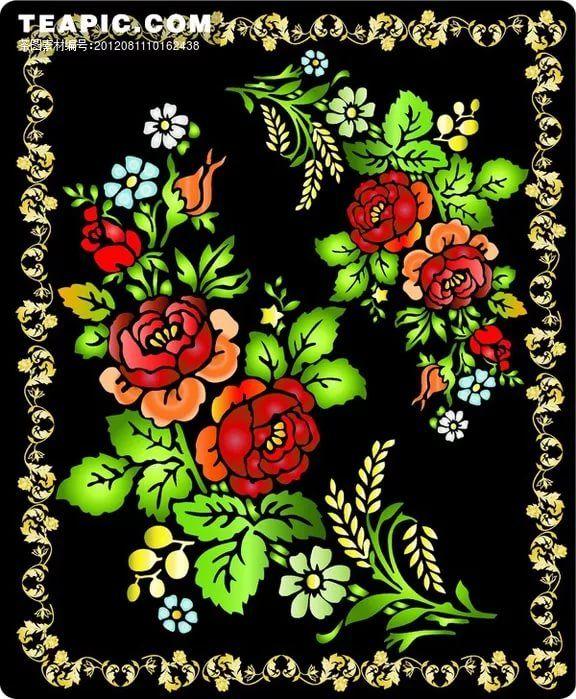 цветок в хохломской росписи: 10 тыс изображений найдено в ...