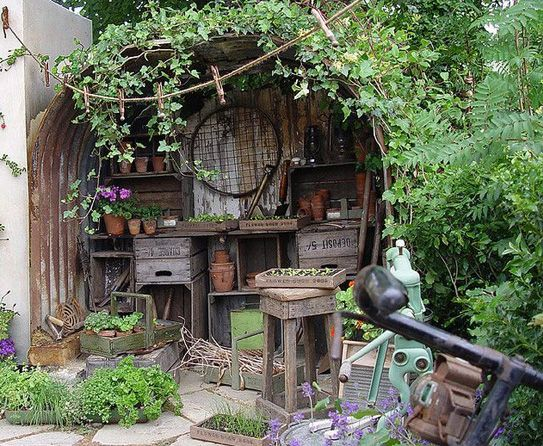 Country Garden Sheds | Tags: Country Potting Shed Ideas | Outdoors Home |  Rustic Country