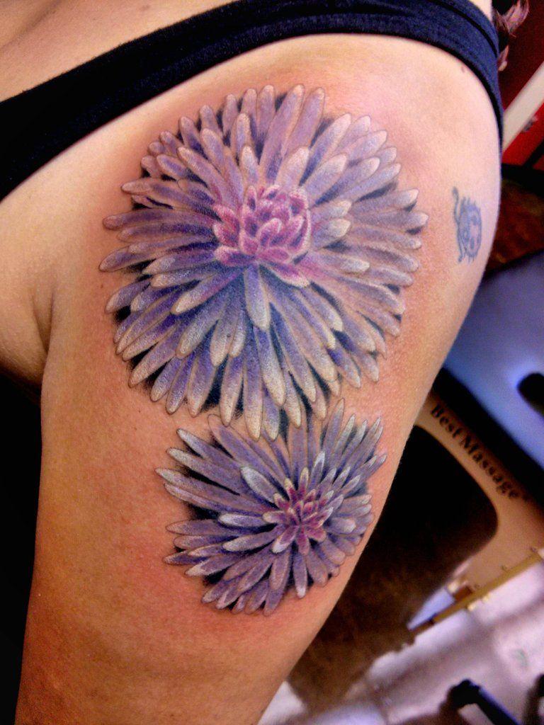 Aster Flower Tattoo Daxton S Birth Flower Aster Tattoo Aster Flower Tattoos Men Flower Tattoo