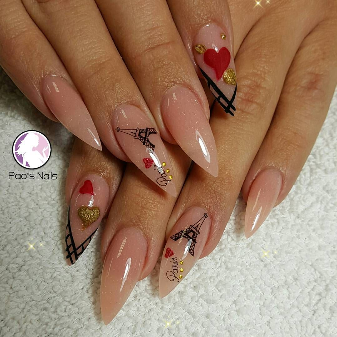 Instagram photo of acrylic nails by pao17nails | Love it | Pinterest ...