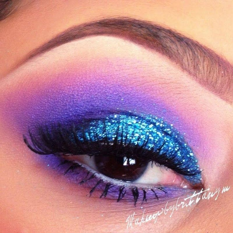 Teal Glitter Eyeshadow by Brittany N. Click the pic to see the video tutorial. #beauty #makeup #bling