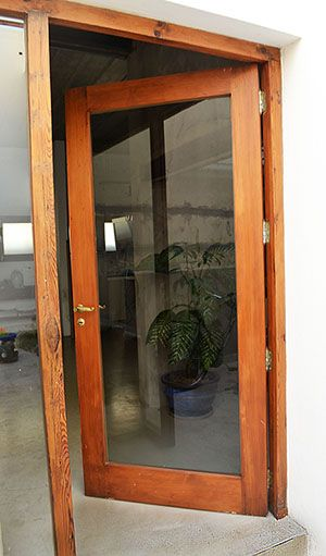 Puerta Y Paño Fijo De Vidrio Madera Reciclada Pino Brasil Glass Bathroom Glass Bathroom Door Door Design