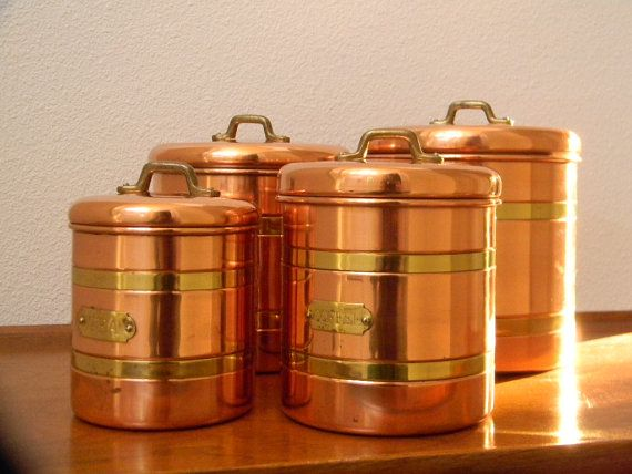 Beautiful ... Copper Canister Set Kitchen Copper Canisters Kitchen 100 Images Kitche  Canisters Gold ...