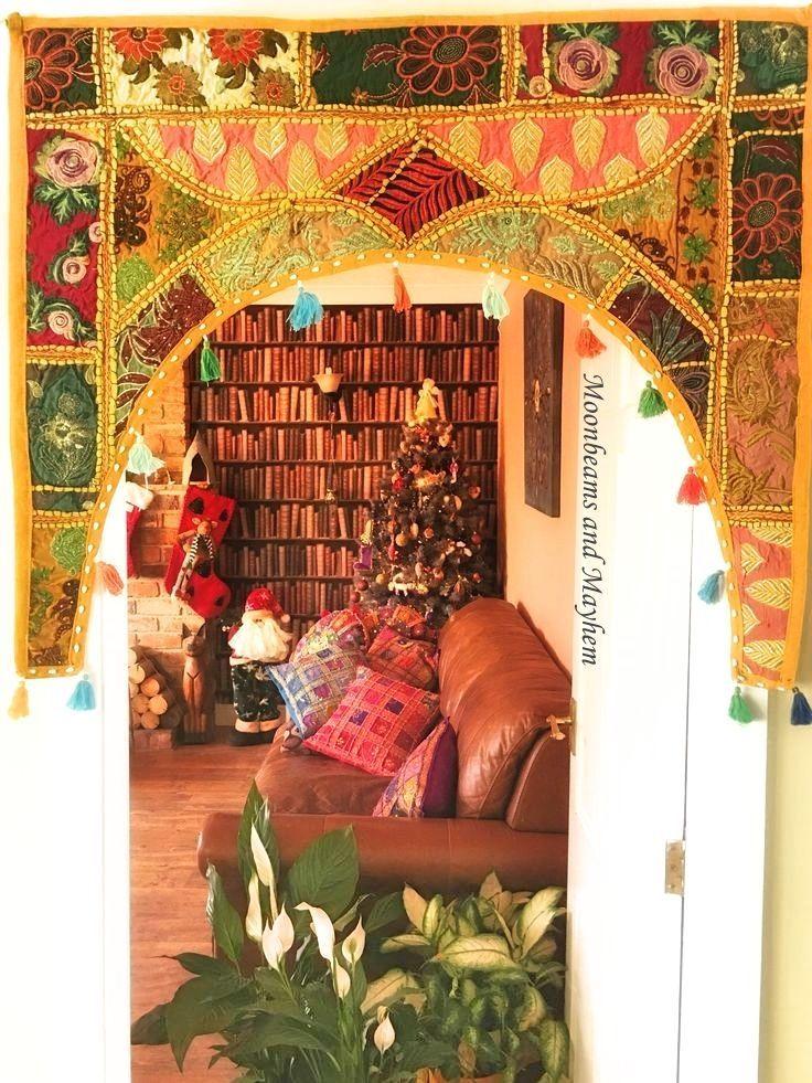 door throw fab large new indian embroidered toran door hanging hippie boho