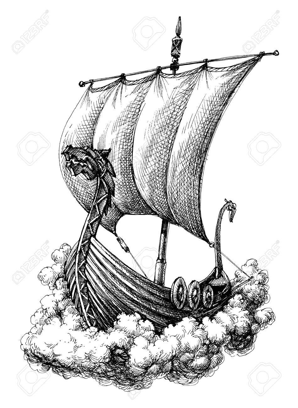 Found On Bing From Getdrawings Com Viking Drawings Boat Drawing Viking Ship Tattoo