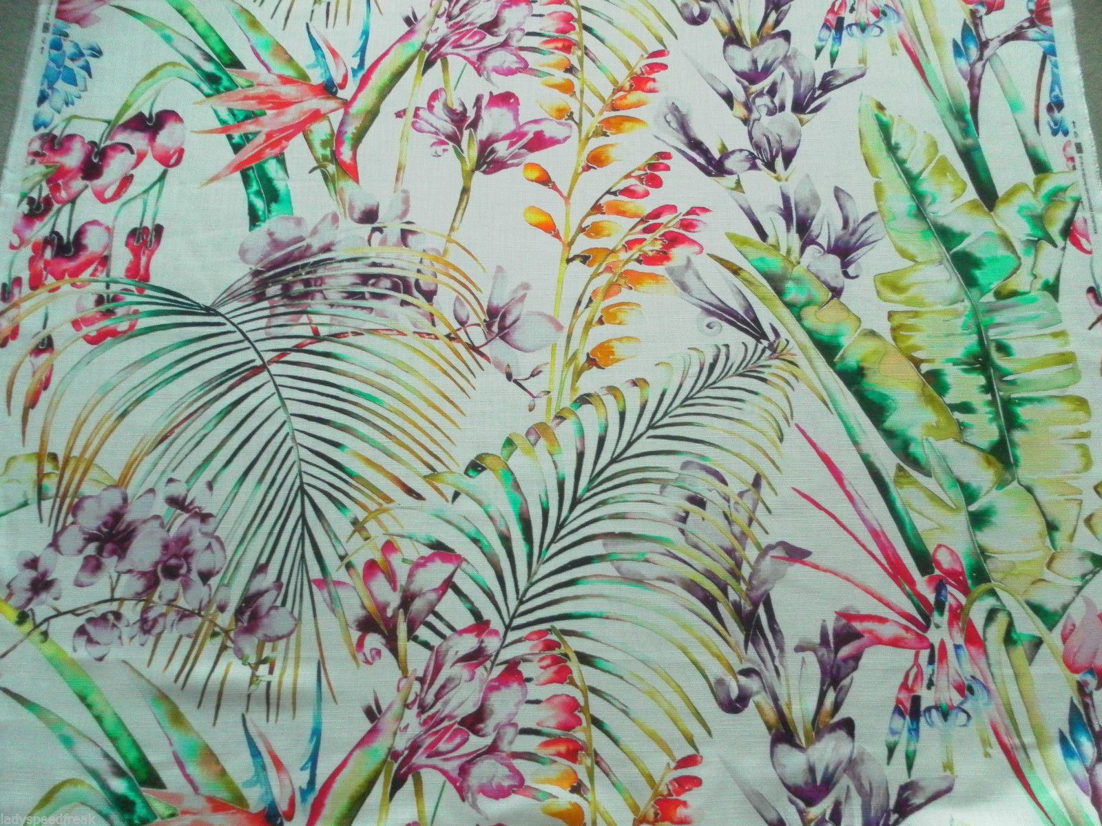 Products harlequin designer fabrics and wallpapers paradise - Harlequin Curtain Fabric Paradise 1 8m Flamingo Papaya Tropical Floral Design