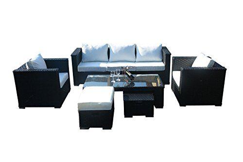 YAKOE  Seater Monaco Range Rattan Garden Furniture  Rattan Sofas