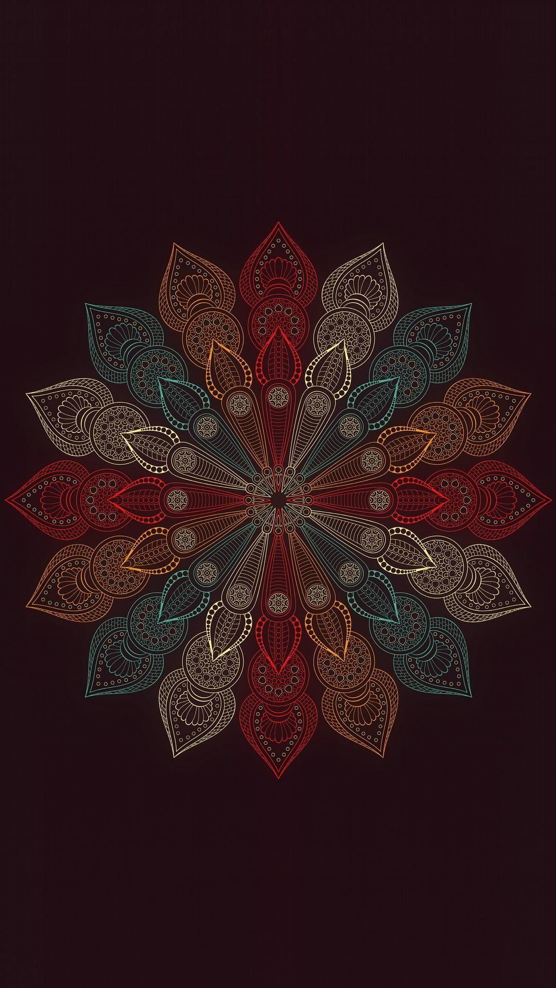 Mandala Flower Art wallpaper iphone, Mandala wallpaper