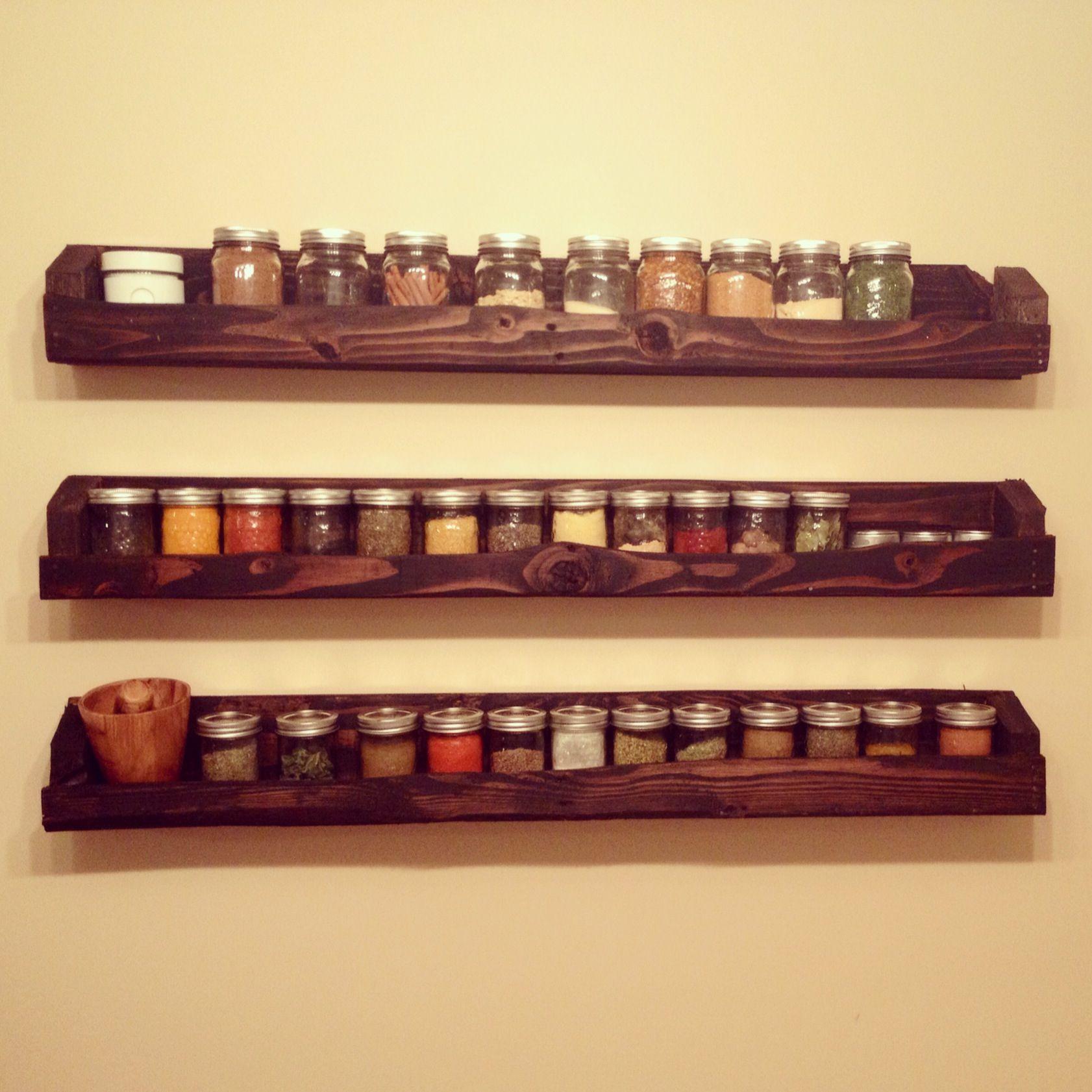 Pallet And Mason Jar Spice Rack Tapas De Frascos Estanterias De Jardin Proyectos Con Pales