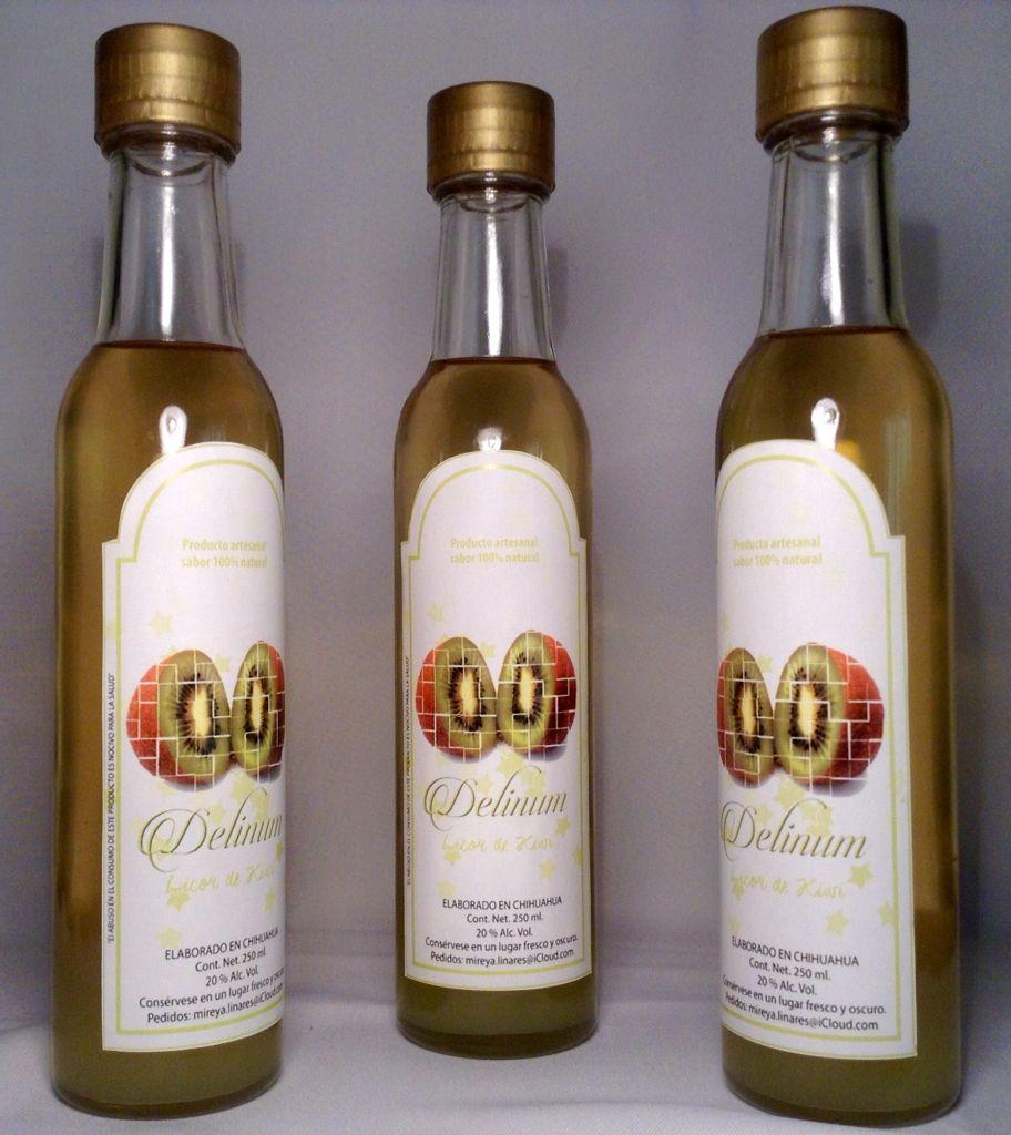 Licor de kiwi, artesanal, sin conservadores, colorantes ni saborizantes artificiales