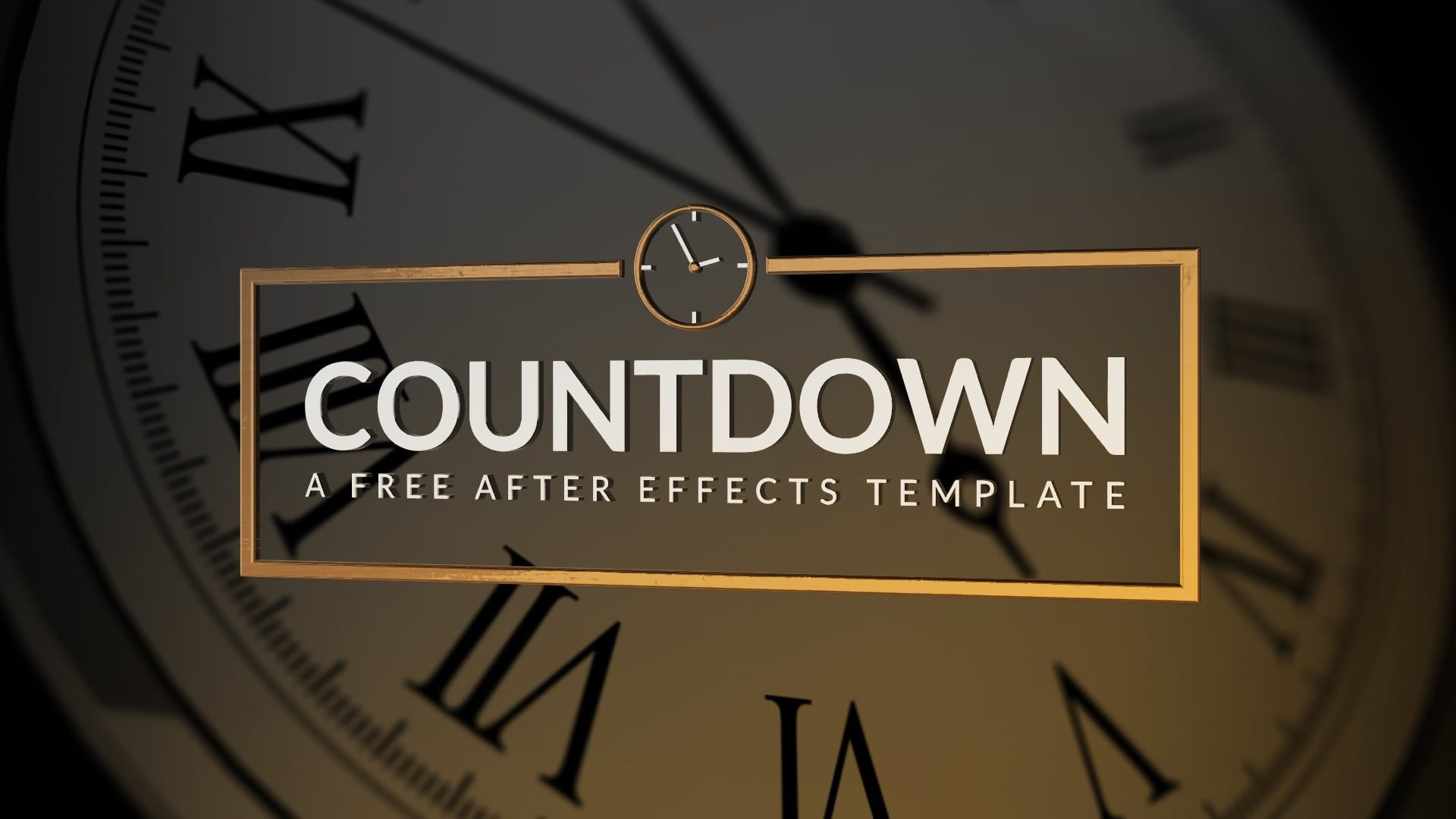 get your free clock template from our download page httpwwwrocketstockcomblogfree after effects template countdown