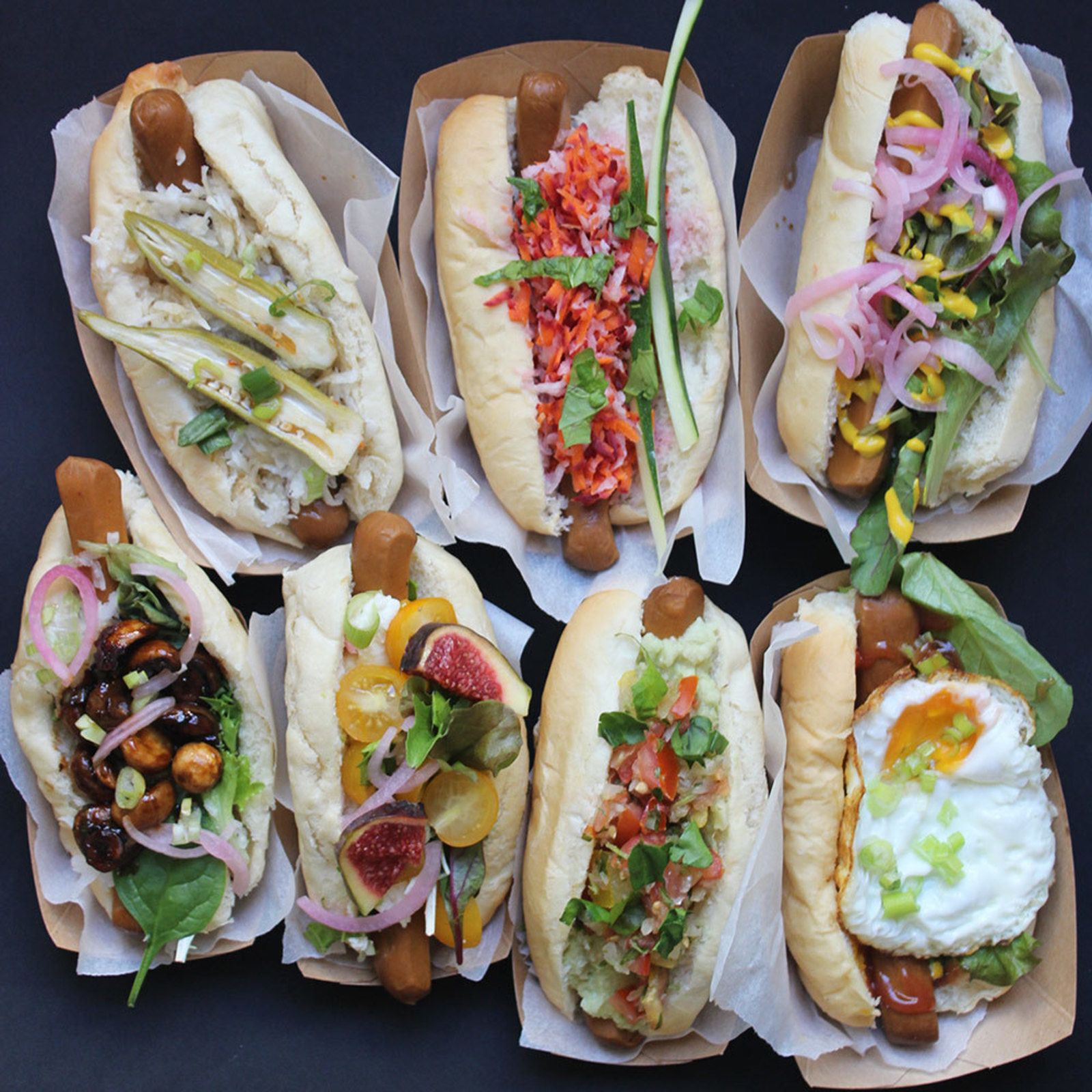 Vegetarian Hotdogs At Le Tricycle Vegetarian Hot Dog Hot Dog Recipes Gourmet Hot Dogs