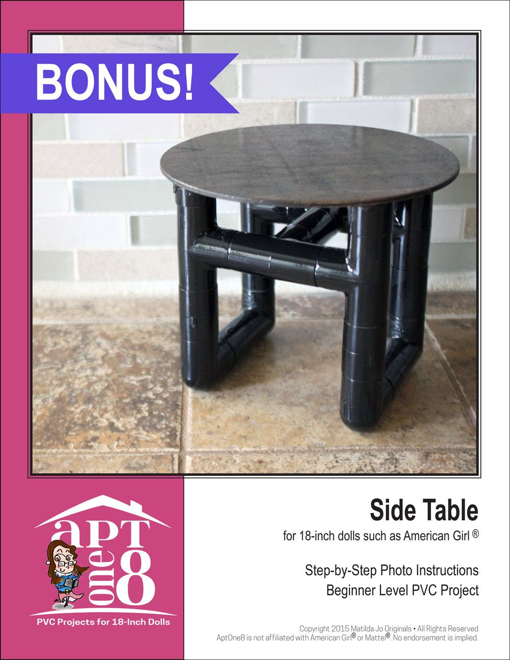 Sleeper Chair Plus Bonus Side Table Pvc Pattern Projects Doll Clothes