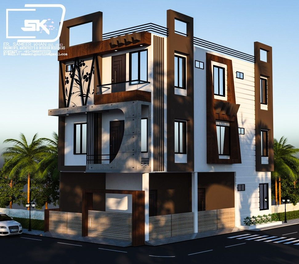 Unique Home Exterior Design: Introducing Modern House Exterior Elevation Of G+2 House